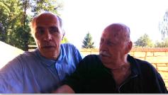 Adriano Tagliapietra con il figlio, l'architetto Giovanni Tagliapietra, di Verona